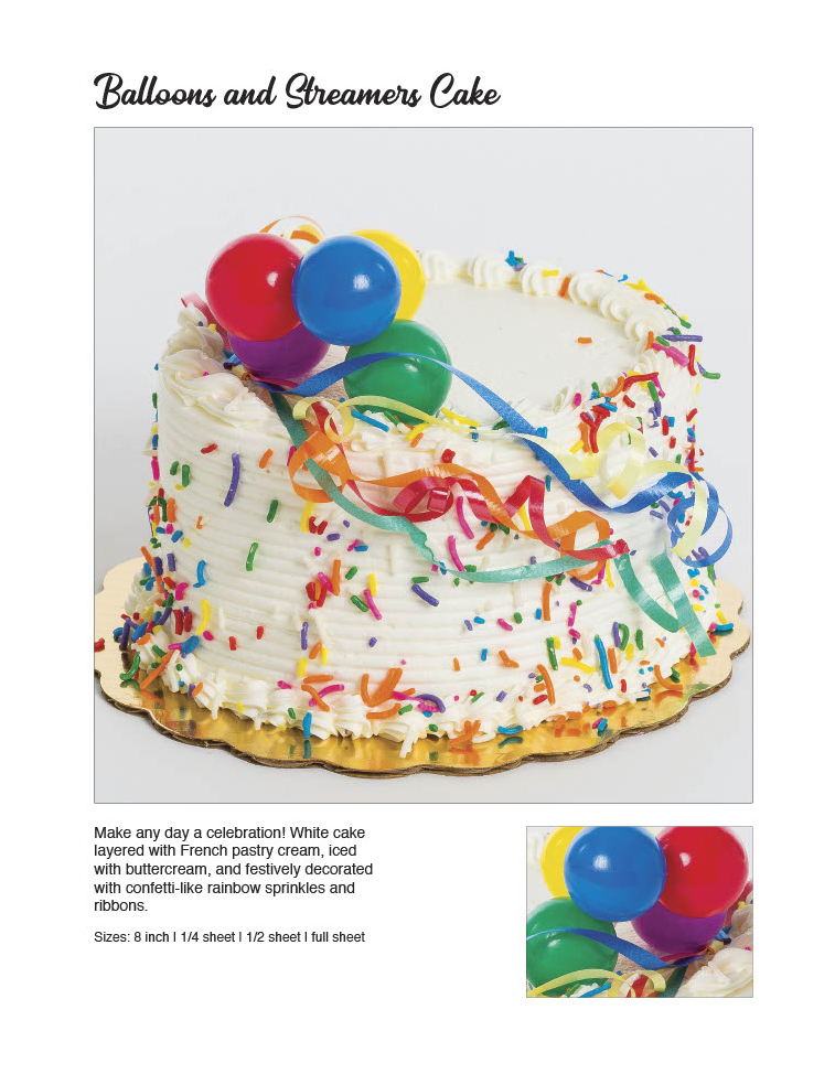 Balloons and Streamers Cake
