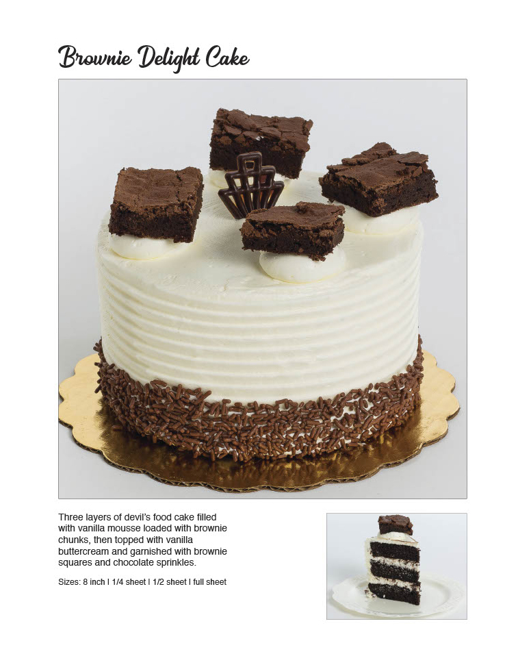 Brownie Delight Cake